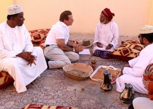 Gary learning about frankincense in Oman