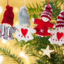 stuffed angel Christmas tree ornaments