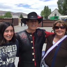 Young Living member Anna McElligott with her daughter and Gary Young